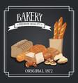 bakery premium quality shop design elements rye vector image