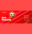 banner for soccer championship stylish vector image