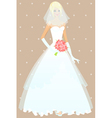 Beautiful girl in wedding dress vector image