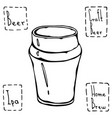 beer glass nonic pint type hand drawn vector image vector image