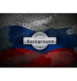 Camouflage military grunge pattern flag Russia vector image