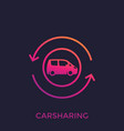 carsharing icon carpooling service vector image vector image