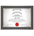 certificate new 2015 vector image vector image