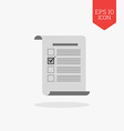 Checklist vote survey icon Flat design gray color vector image vector image
