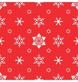 Christmas pattern with openwork snowflakes vector image