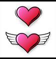 colorful pop art retro heart comic style vector image