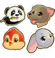 Cute Animals Faces vector image vector image