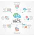 Data Analytics Infographic Flat Icons Banner vector image vector image