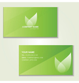 design green visited card vector image vector image