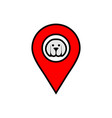 dog location icon logo vector image vector image