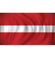Flag of Latvia vector image