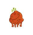 flat poop upset vector image vector image