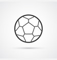 football black icon soccerball eps10 vector image