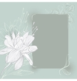frame with hand drawn flowers vector image vector image