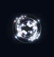 glittering star dust circle of lights stars on vector image vector image
