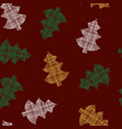 golden texture christmas trees on grey blue vector image vector image