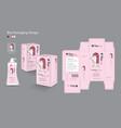 hair packaging box-1 vector image vector image