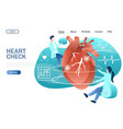 heart check website landing page design vector image vector image