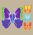image of colored butterflies vector image vector image