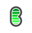 initial b letter electric flash power battery vector image vector image