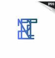 initial rt logo monogram design template simple vector image vector image