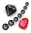 jewelry set vector image vector image