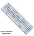 keyboard in white color vector image vector image