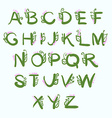 Letters of the alphabet hand-drawn with floral vector image vector image
