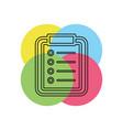 list icon checklist vector image vector image