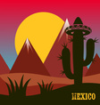 Mexico inspired card vector image vector image