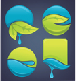 nature stickers and frames vector image vector image