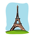 Paris Tour Eiffel vector image vector image