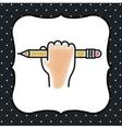 pencil icon design vector image vector image