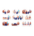 people on psychotherapy group therapy vector image vector image