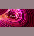 purple striped surface liquid flowing shape vector image vector image