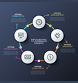 round flowchart with 5 white circular elements vector image vector image
