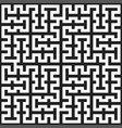 seamless monochrome labyrinth pattern texture vector image