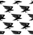 Seamless pattern with black hawks birds vector image vector image