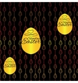 Seamless pattern with Easter eggs on black vector image vector image