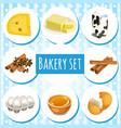 set attribute healthy eating fitness menu vector image