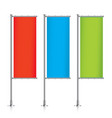 Set of colorful vertical banner flags vector image vector image