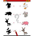 shadow game with animals vector image vector image