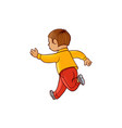 sketch running boy ranaway kid vector image vector image