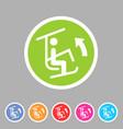 ski lift resort man icon flat web sign symbol logo vector image