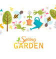 spring garden design poster vector image vector image