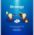 strategy poster of isometric color design vector image vector image