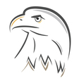 stylized eagle head design vector image