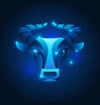taurus zodiac sign blue star horoscope symbol vector image vector image