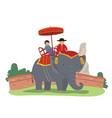 thai elephant vector image vector image