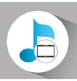 touchpad digital music wireless vector image vector image